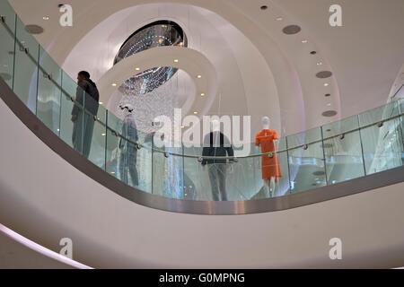 Shopper at the Westfield shopping mall in Shepherd's Bush, London, UK - Stock Photo