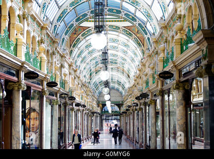 County Arcade Victoria Quarter Leeds Frank Matcham - Stock Photo