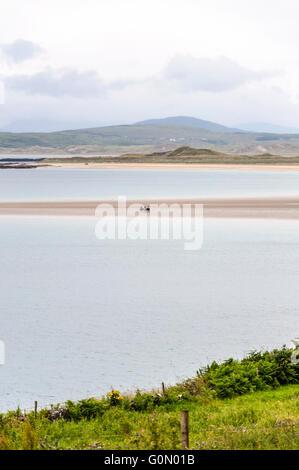 Narin strand beach near Portnoo, County Donegal, Ireland - Stock Photo