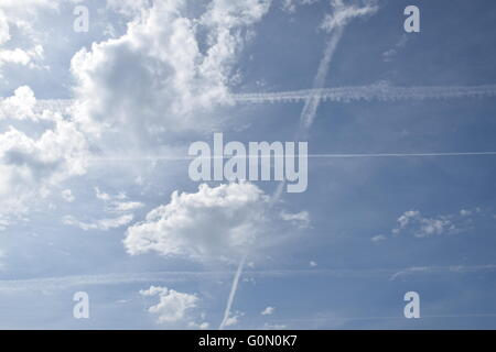 Clouds and chemicals. - Stock Photo