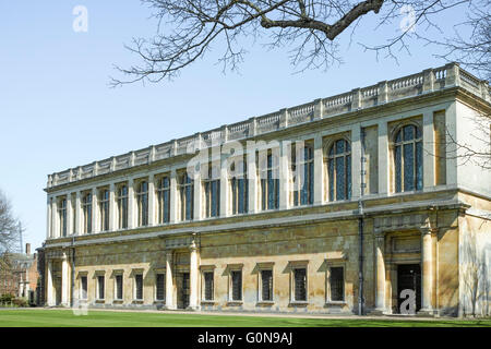Wren library at Trinity college (university of Cambridge, England), the largest Oxbridge college by number of undergraduates. - Stock Photo