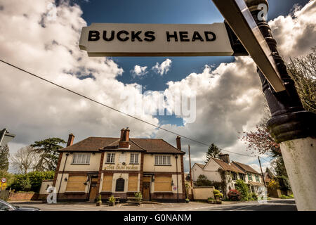 A derelict, closed-down rural pub in the countryside of Britain. - Stock Photo