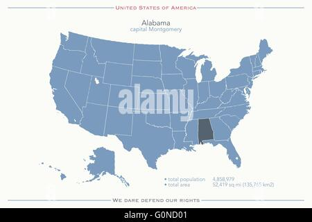 Alabama State Political Map Stock Photo Royalty Free Image - Alabama in usa map