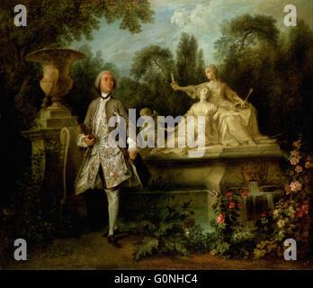 Lancret, Nicolas - Portrait of the Actor Grandval - Stock Photo