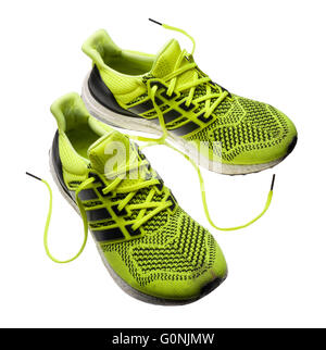 Adidas Ultra Boost running shoes. - Stock Photo