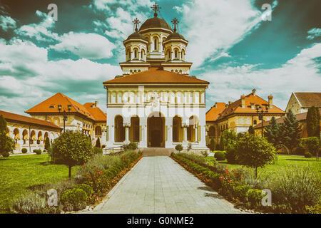The Coronation Cathedral In Alba Iulia, Romania - Stock Photo