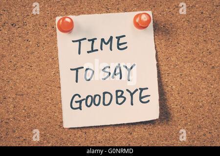 Sad handwritten goodbye note Photo Royalty Free Image – Goodbye Note