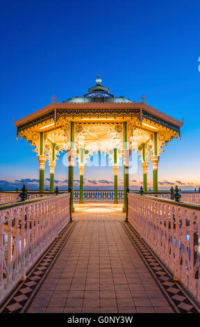 Victorian Bandstand on the promenade - Stock Photo