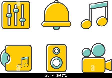Line Simple Icon - Stock Photo