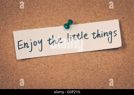 Enjoy the little things - Stock Photo