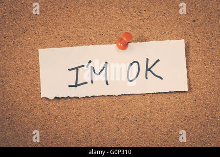 I'm ok - Stock Photo