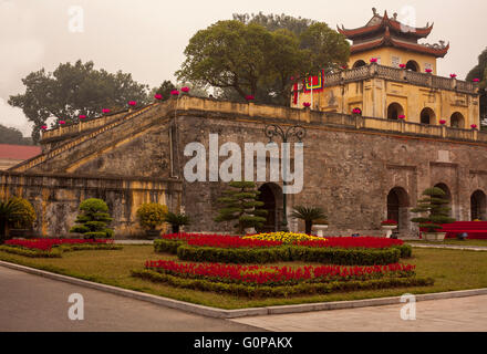 Imperial Citadel of Thang Long Hanoi Vietnam - Stock Photo