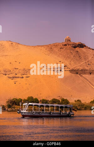 Nile near Aswan, landscape, Egypt - Stock Photo
