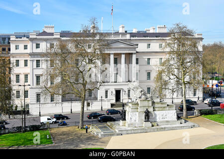 Lanesborough Neoclassical five star Hotel formally St George's Hospital at Hyde Park Corner London England UK with - Stock Photo