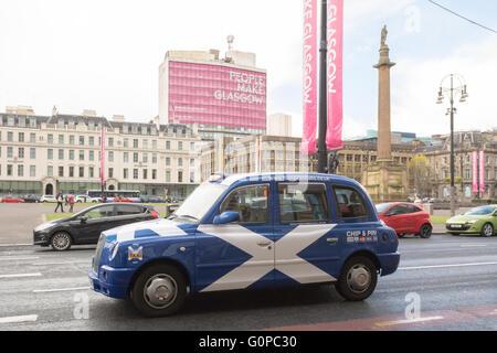 George Square, Glasgow, Scotland, uk - Stock Photo