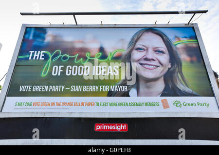 Turnpike Lane, London, UK. 3rd May 2016. Sian Berry, Green Party London Mayor candidate poster Credit:  Matthew - Stock Photo