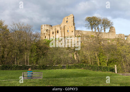 Barnard Castle, Teesdale, County Durham UK.  Tuesday 3rd May 2016. UK Weather.  A pleasant evening in Northern England - Stock Photo