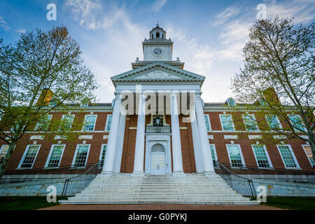 Gilman Hall, at Johns Hopkins University, in Baltimore, Maryland. - Stock Photo