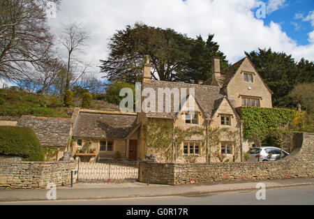 Ancient village 'Bibury' in the Cotswolds region - Stock Photo