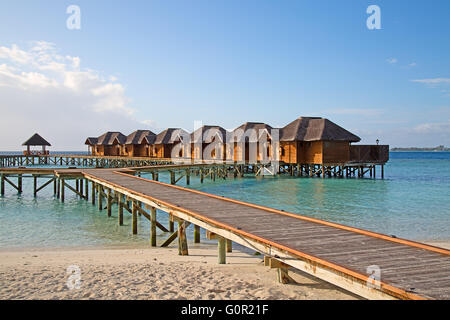 Maldivian island. Paradise in tropics. - Stock Photo