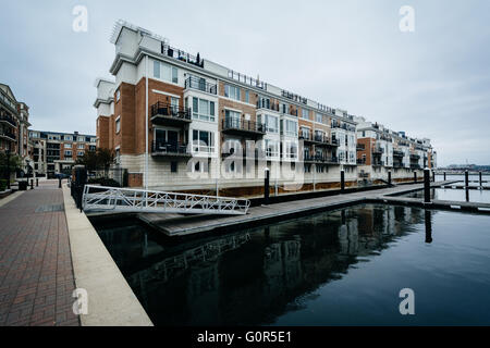 Charmant ... Waterfront Apartment Buildings At The Inner Harbor, In Baltimore,  Maryland.   Stock Photo