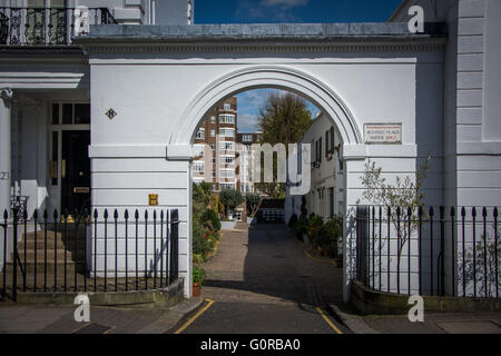 Victorian mews in South Kensington ,West London - Stock Photo