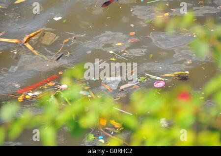 River Pollution in Thailand - Stock Photo