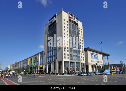 Shopping mall, Spandau Arcaden, Klosterstrasse, Spandau, Berlin, Germany - Stock Photo