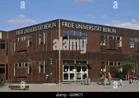 Free University of Berlin, rust bucket, Habelschwerdter Allee, Dahlem, Berlin, Germany / Freie Universitat, Freie - Stock Photo