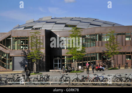 Philological library, dome, Free University of Berlin, rust bucket, Habelschwerdter Allee, Dahlem, Berlin, Germany - Stock Photo