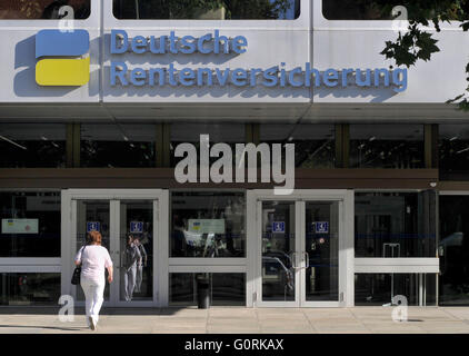German Pension Insurance, Hohenzollerndamm, Wilmersdorf, Berlin, Germany - Stock Photo