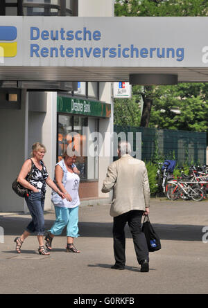 German Pension Insurance, Fehrbelliner Platz, Wilmersdorf, Berlin, Germany - Stock Photo