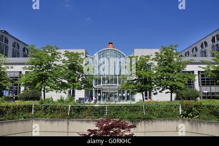 Main building, Rudolf Virchow Hospital, Charite university clinic campus Wedding, Mittelallee, Augustenburg Square, - Stock Photo
