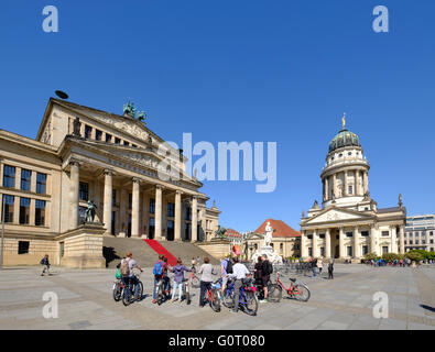 View of Gendarmenmarkt square with Konzerthaus on the left  in Mitte Berlin Germany - Stock Photo