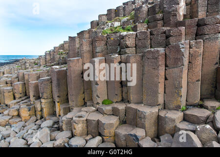 Basalt columns at the Giant's Causeway, Northern Ireland. - Stock Photo