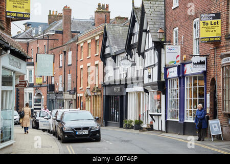 Knutsford historic town cheshire    king street close up eating dining foods Restaurant dining food eating eating - Stock Photo