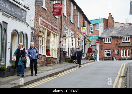 Knutsford historic town cheshire    off king street close up eating dining foods Restaurant dining food eating eating - Stock Photo