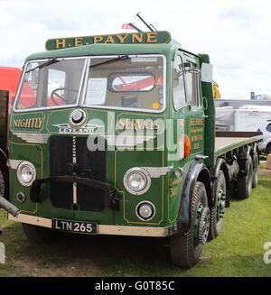 Leyland Octopus HGV Truck - H E Payne Flat Bed - Stock Photo