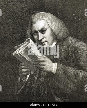 Dr Samuel Johnson lexicographer (1709-84)  Author of A Dictionary of the English Language published in 1755 - Stock Photo