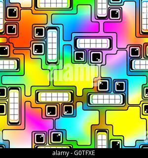 Motley robots - Stock Photo