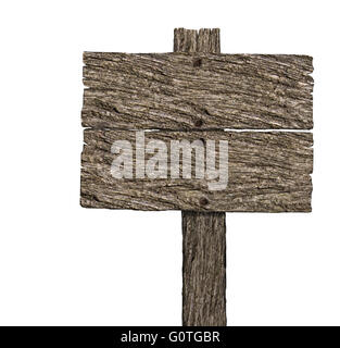 Blank Wooden Signboard With copy space - Stock Photo