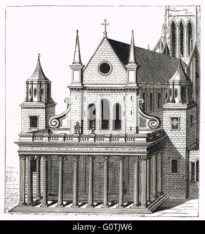 Porch by Inigo Jones for the old St Paul's Cathedral - Stock Photo