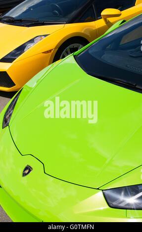 Italian Super Car; Lamborghini Cars Front End Abstract. Italian Super Car    Stock Photo
