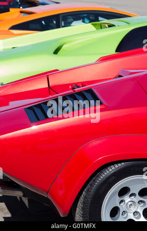 Lamborghini Car Rear End Abstract Italian Super Car Stock Photo
