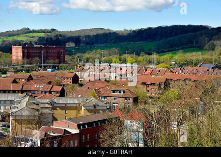 Bristol city rooftops in the Hotwells area, UK - Stock Photo