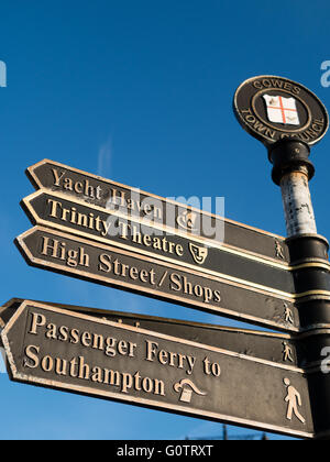 Sign Post, Cowes, Isle of Wight, England - Stock Photo