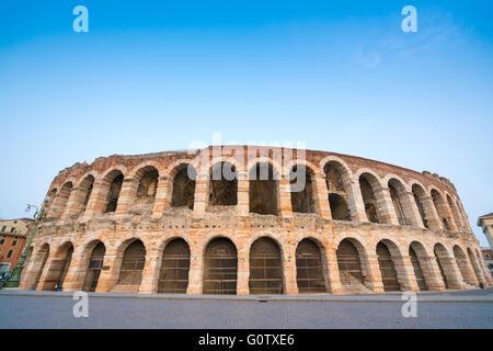 Arena di Verona amphitheatre in the evening, Italy - Stock Photo