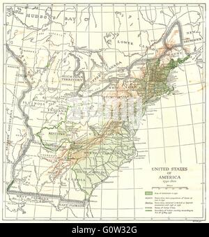 Map Of America Stock Photo Royalty Free Image Alamy - Map of the us in 1800