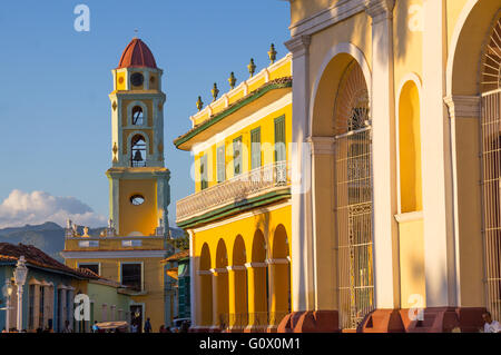The beautiful colonial architecture of the Caribbean reflects in the Cuban city of Trinidad - Trinidad, CUBA in - Stock Photo