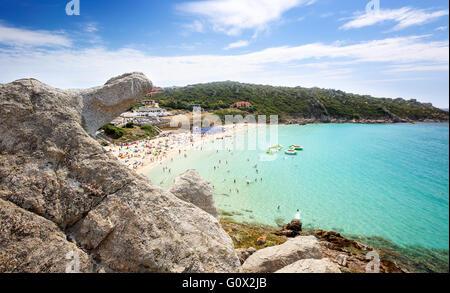Rena Bianca, the Beach of St. Teresa in Summer - North Sardinia, Italy - Stock Photo
